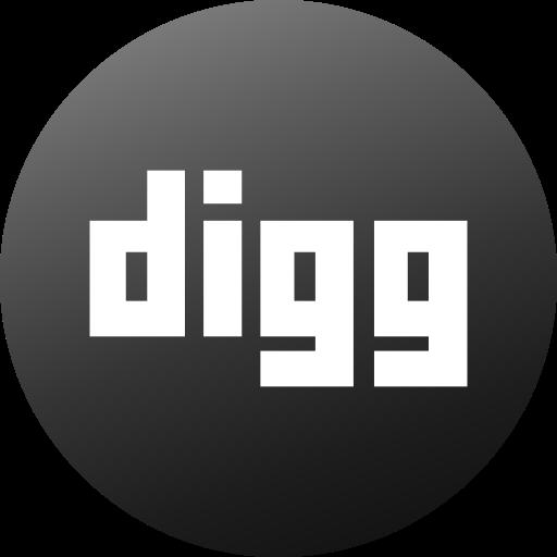 circle, colored, digg, gradient, media, social, social media icon