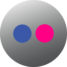 circle, colored, flickr, gradient, media, social, social media icon