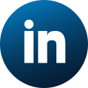 circle, colored, gradient, linkedin, media, social, social media icon