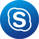 circle, colored, gradient, media, skype, social, social media icon