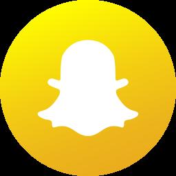 circle, colored, gradient, media, snapchat, social, social media icon