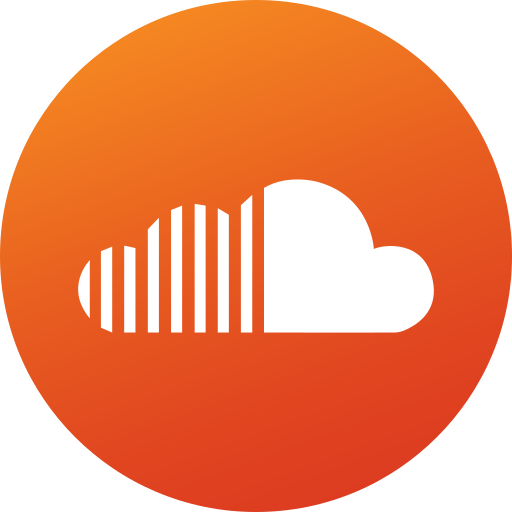circle, colored, gradient, media, social, social media, soundcloud icon