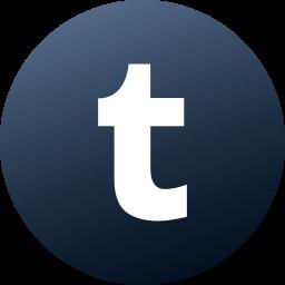 circle, colored, gradient, media, social, social media, tumblr icon