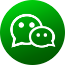 circle, colored, gradient, media, social, social media, wechat icon