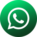 circle, colored, gradient, media, social, social media, whatsapp icon