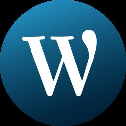 circle, colored, gradient, media, social, social media, wordpress icon