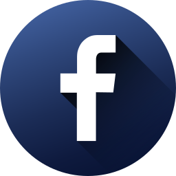 circle, facebook, high quality, long shadow, media, social, social media icon