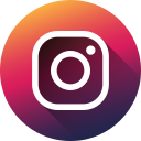 circle, high quality, instagram, long shadow, media, social, social media icon