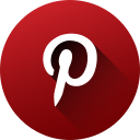 circle, high quality, long shadow, media, pinterest, social, social media icon