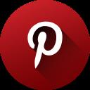 circle, high quality, long shadow, media, pinterest, social, social media icon