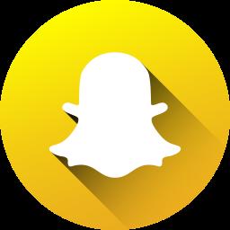 circle, high quality, long shadow, media, snapchat, social, social media icon