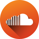 circle, high quality, long shadow, media, social, social media, soundcloud icon