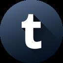 circle, high quality, long shadow, media, social, social media, tumblr icon