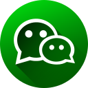 circle, high quality, long shadow, media, social, social media, wechat icon