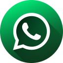 circle, high quality, long shadow, media, social, social media, whatsapp icon