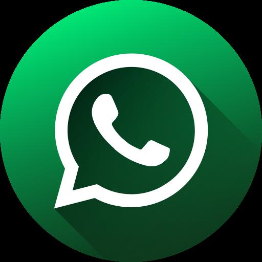 circle, high quality, long shadow, media, social, social media, whatsapp icon