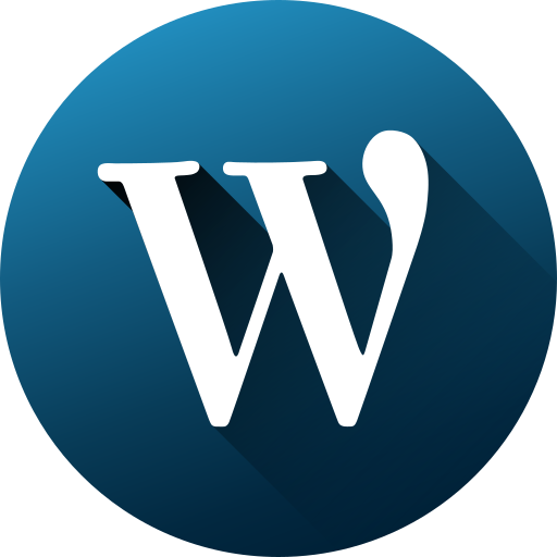 circle, high quality, long shadow, media, social, social media, wordpress icon