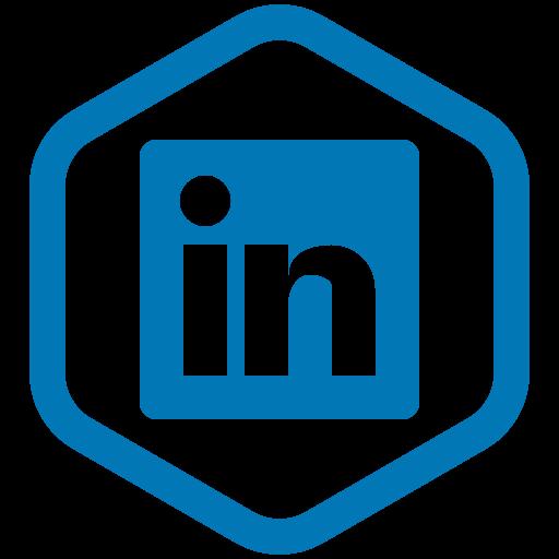 in, linkedin, media, share, social, work, yumminky icon