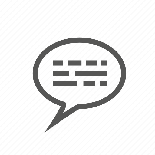 box, bubble, comment, commenting, review, talking, typing icon