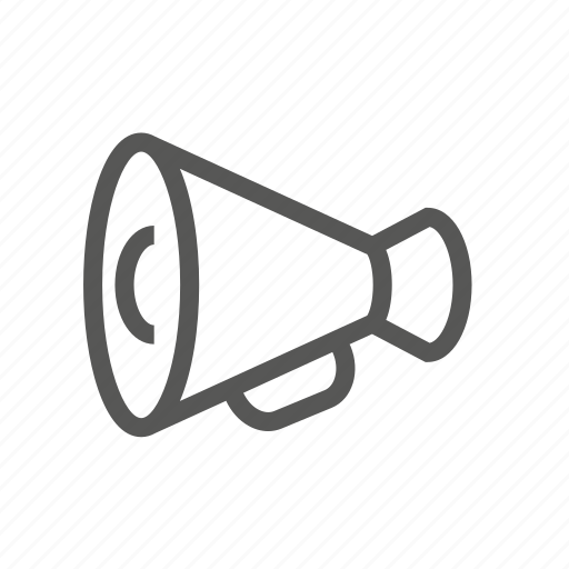 bullhorn, increase, loud, loudhailer, tube, vol, volume icon