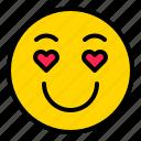 emoticon, emotion, love, media, social icon