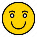 emoticon, emotion, media, smile, social