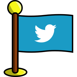 bird, flag, media, networking, social, twitter icon