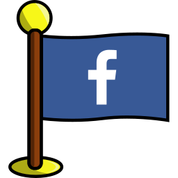 facebook, flag, media, networking, social icon