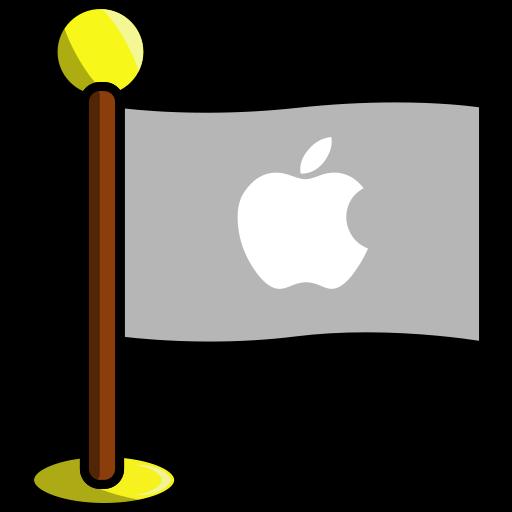 apple, flag, media, networking, social icon