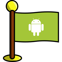 android, flag, media, networking, social icon