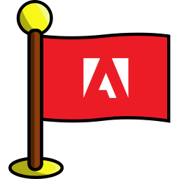adobe, flag, media, networking, social icon