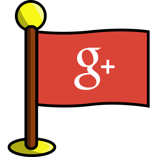 flag, google, media, networking, plus, social icon