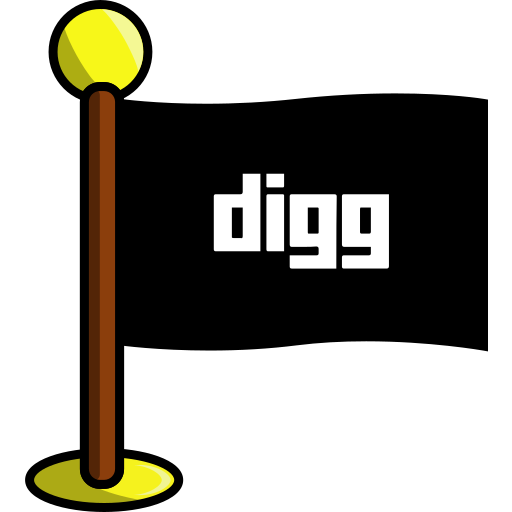 digg, flag, media, networking, social icon