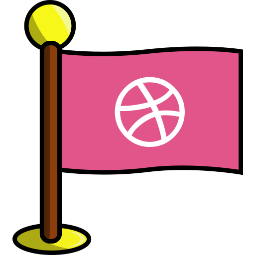 art, dribbble, flag, media, networking, social icon
