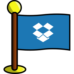 dropbox, flag, media, networking, social icon