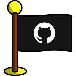 flag, github, media, networking, social icon