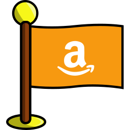 amazon, flag, media, networking, social icon