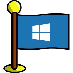 flag, media, networking, social, windows icon