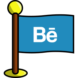 behance, flag, media, networking, social icon