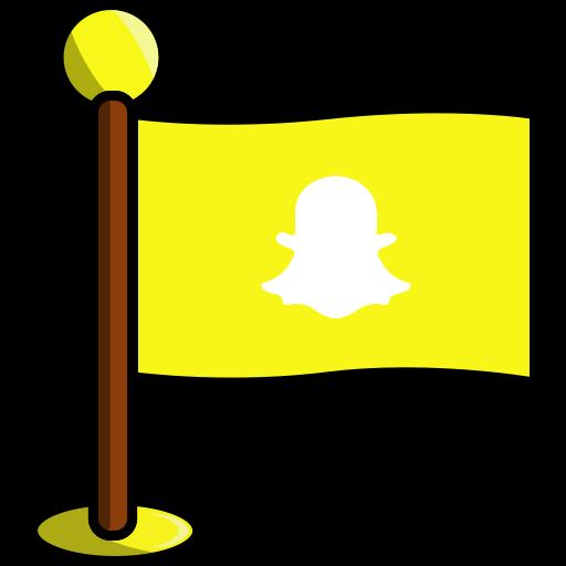 flag, media, networking, snapchat, social icon