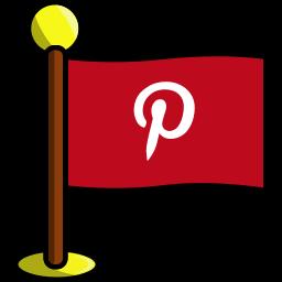 flag, media, networking, pinterest, social icon