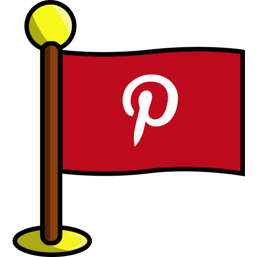 flag, media, networking, pinterest, social icon