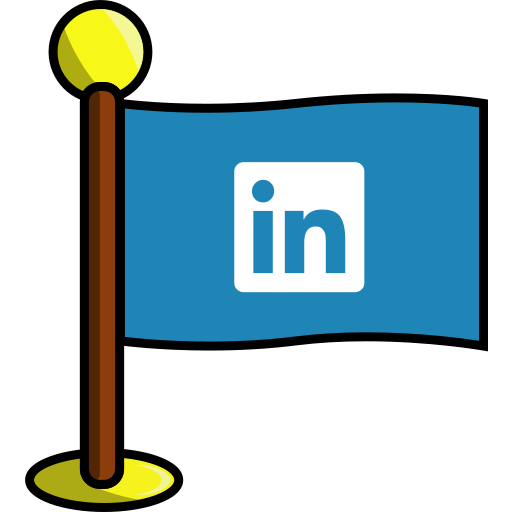 flag, linkedin, media, networking, social icon