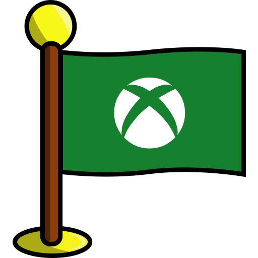 flag, games, media, networking, social, xbox icon