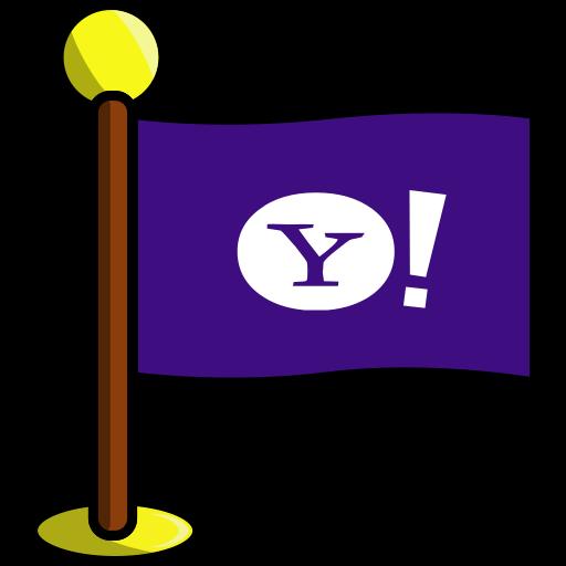 flag, media, networking, social, yahoo icon