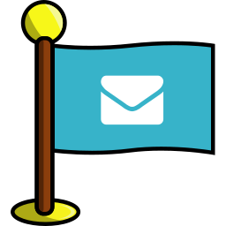 email, flag, media, networking, social icon