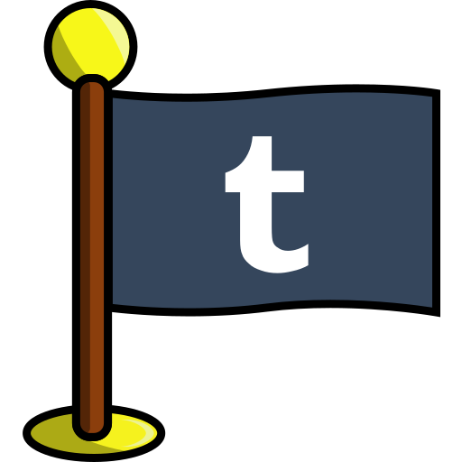 flag, media, networking, social, tumblr icon