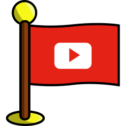flag, media, networking, play, social, youtube icon