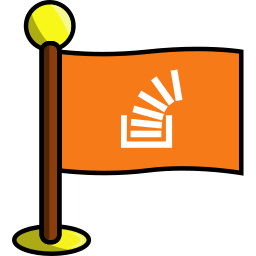 flag, media, networking, social, stackoverflow icon