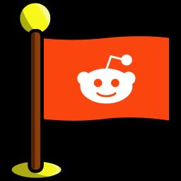 flag, media, networking, reddit, social icon